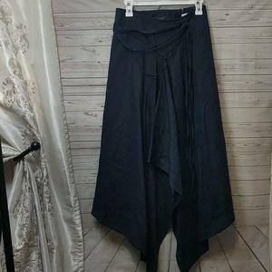 New Talbots Linen Handkerchief Asymmetrical Skirt